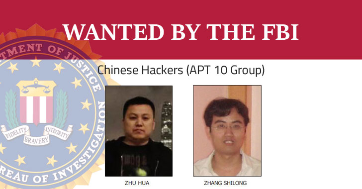 APT 10 chinese hackers wanted by fbi