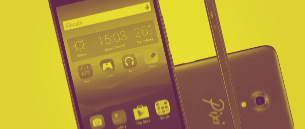 Alcatel Pixi smartphone