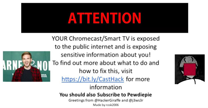 google chromecast hack pewdiepie