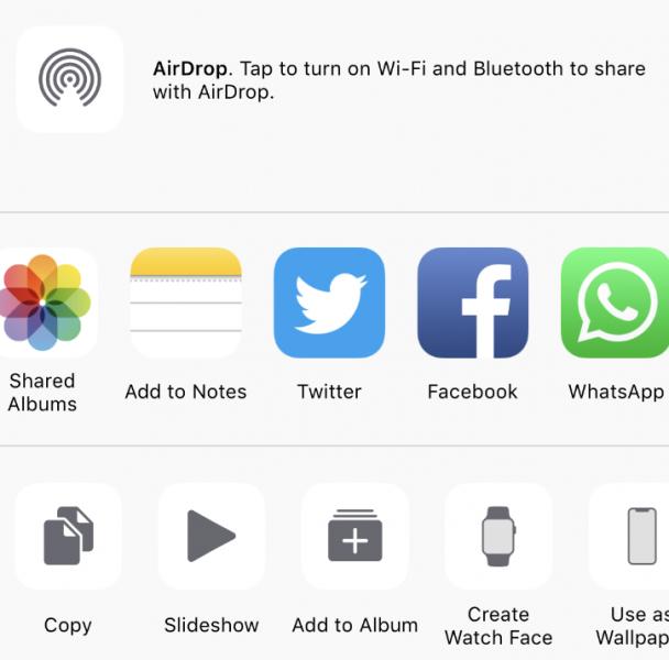 iPhone Share Sheet
