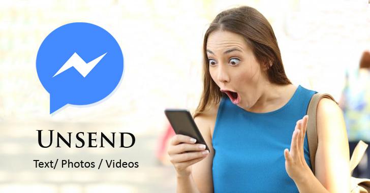 unsend delete facebook messages