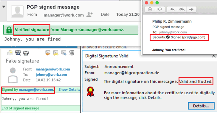 OpenPGP signature spoofing