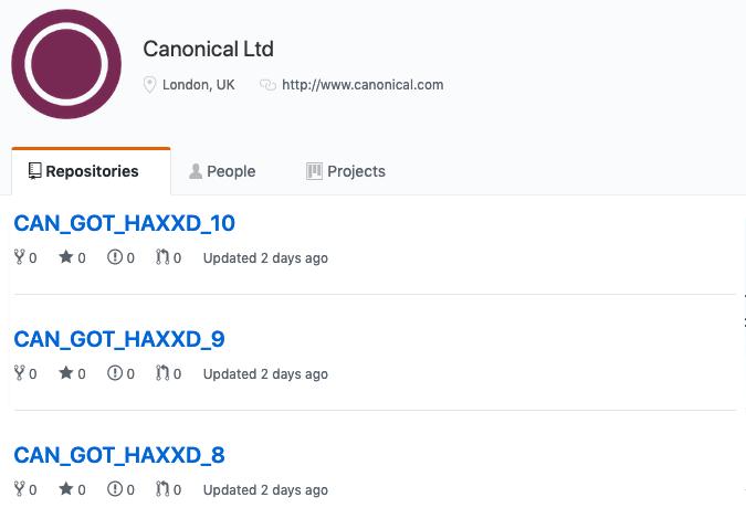 Canonical GitHub hacked