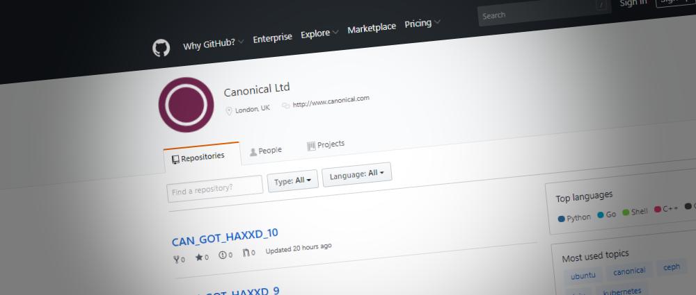 Canonical GitHub account hacked