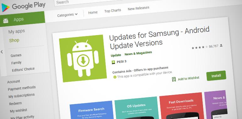 Updates for Samsung app