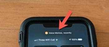 Microphone access notification in Control Center