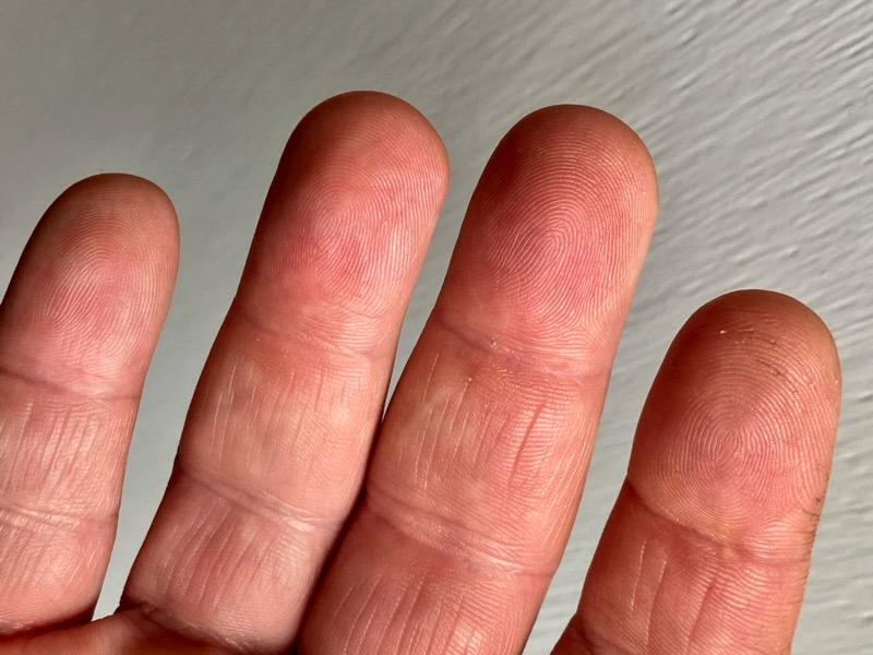 Fingerprints on my index finger are worn and unreliable on my fingerprint readers