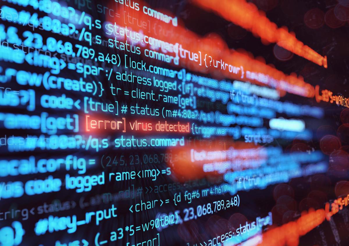 Computer Virus Attack Background